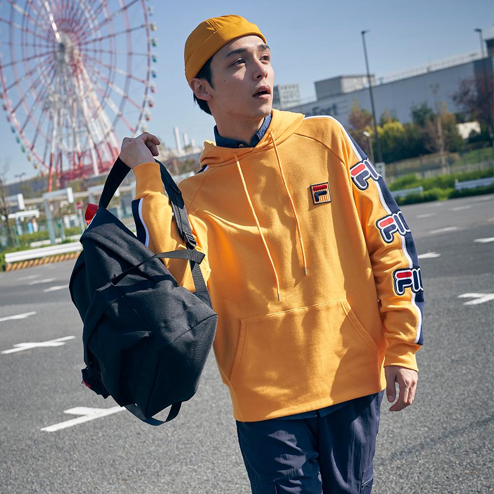 FILA #日潮攻略首部曲 長袖連帽T恤-黃色 1TEU-1405-YE