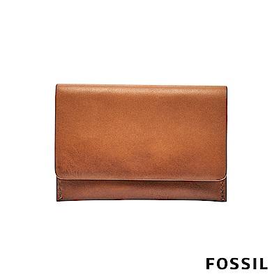 FOSSIL PAUL 名片包 零錢包-駝色