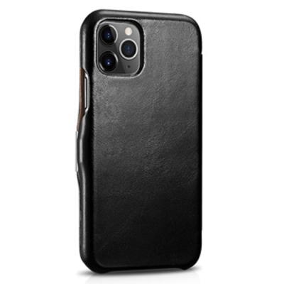 ICARER 復古系列 iPhone 11 Pro Max 6.5吋磁扣側掀真皮皮套