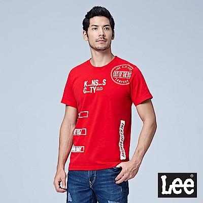 Lee 填字短袖圓領TEE/RG