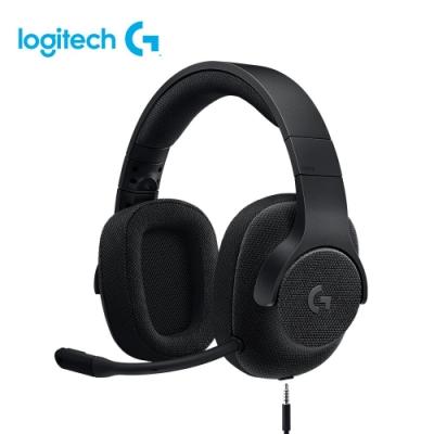羅技 G433 7.1聲道有線遊戲耳機麥克風-黑