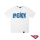 【PONY】迷彩風格短袖上衣-男-白