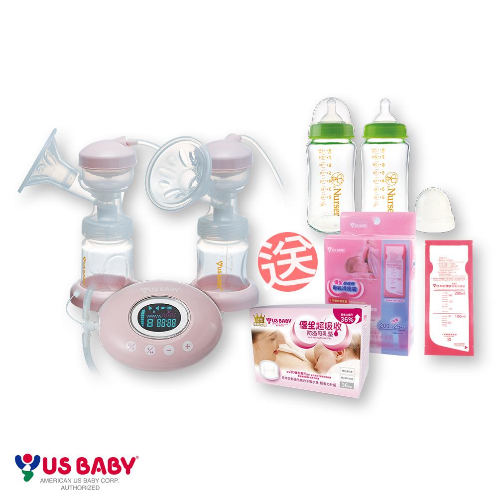 優生 觸控式輕量雙邊電動吸乳器(贈-玻璃奶瓶2大+母乳冷凍袋+防溢母乳墊)