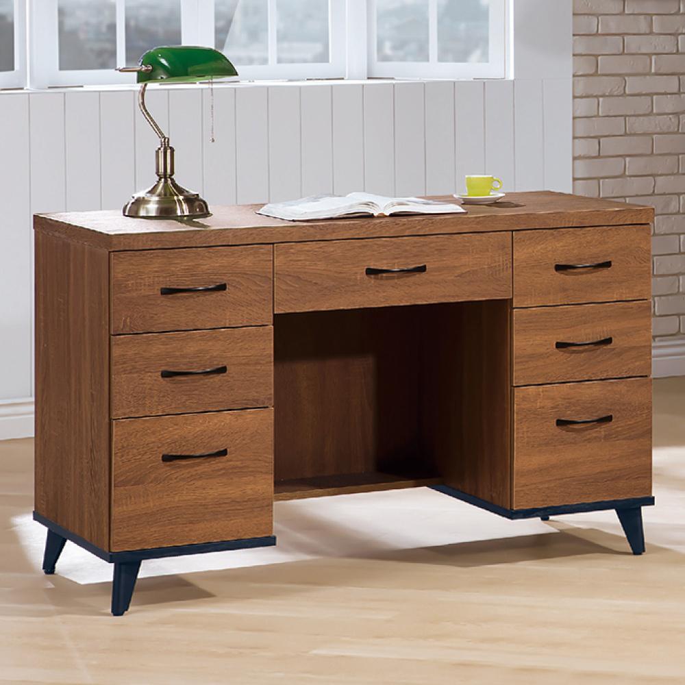 AS-艾拉淺胡桃4尺書桌-120x59x80.9cm
