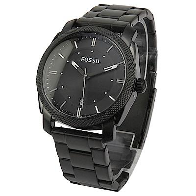 FOSSIL Machine Black 工業風休閒腕錶 -(FS4775)-42mm