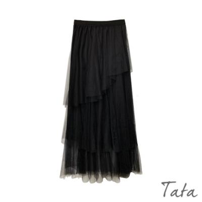 鬆緊腰多層蛋糕紗裙 共二色 TATA-F