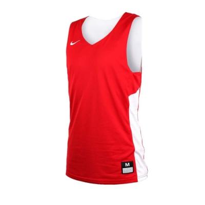 NIKE 男雙面籃球針織背心-無袖背心 慢跑 路跑 健身 訓練 紅白