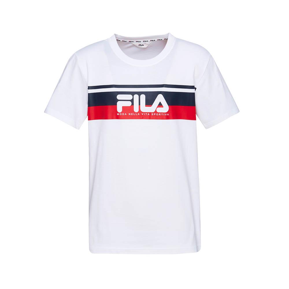 FILA 男款短袖圓領T恤(合身版)-白色 1TET-1507-WT