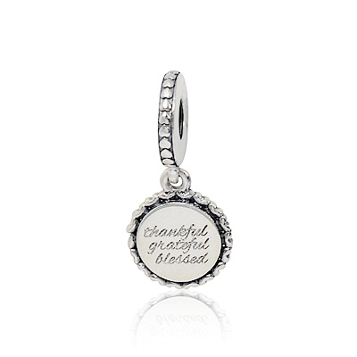 Pandora 潘朵拉 感恩祝福標誌 垂墜純銀墜飾