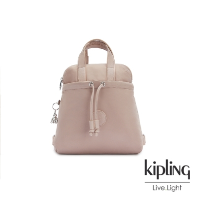 Kipling 溫柔沉穩粉造型三角後背包-GOYO MINI