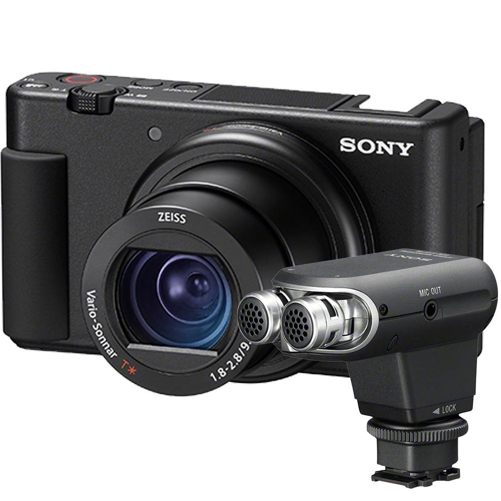 SONY ZV-1 ( ZV1 ) 單機身+ECM-XYST1M 攝影機專用麥克風(公司貨)
