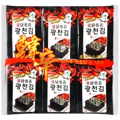 HANXIN 韓辛蜜汁辣雞海苔(60g)