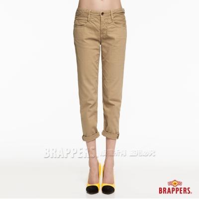 BRAPPERS 女款 Boy Friend Cargo系列-女用八分反摺褲-卡其