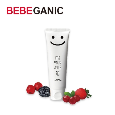 BEBEGANIC 韓國 寶寶微笑無氟牙膏 100g-苺果口味