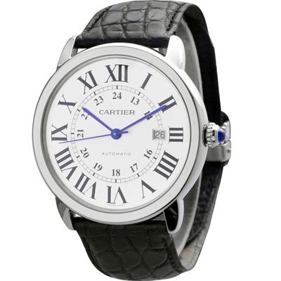 CARTIER RONDE SOLO WSRN0021 中型精鋼機械皮帶腕錶 36mm