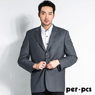 per-pcs 商務質男直條紋修身西裝外套(707319)