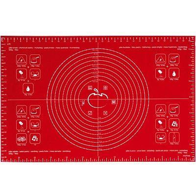 《MASTRAD》多功能烤焙墊(紅62cm)
