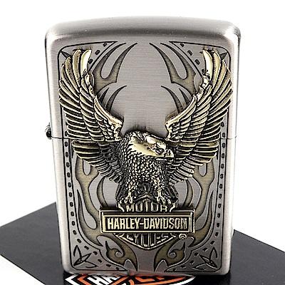 ZIPPO 日系~Harley-Davidson-哈雷-蝕刻立體金屬貼飾打火機