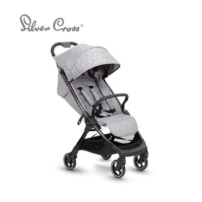 Silver Cross Clic 輕量瞬收 可登機 可平躺 嬰兒手推車 0m+(清凝灰)