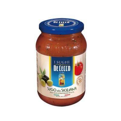 得科 DE CECCO 西西里義大利麵醬 400g/罐