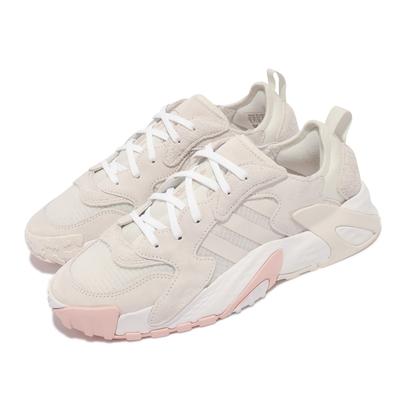 adidas 休閒鞋 Streetball Low 運動 男女鞋 愛迪達 經典 異材質拼接 情侶穿搭 米白 白 FX7669