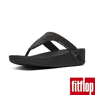 FitFlop CHAIN PRINT夾腳涼鞋黑色