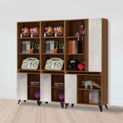 D&T 德泰傢俱 DINO清水模風格6.7尺組合書櫃-201x32x181cm