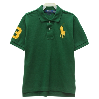 Ralph Lauren CLASSIC FIT 大童大馬短袖POLO衫-綠色