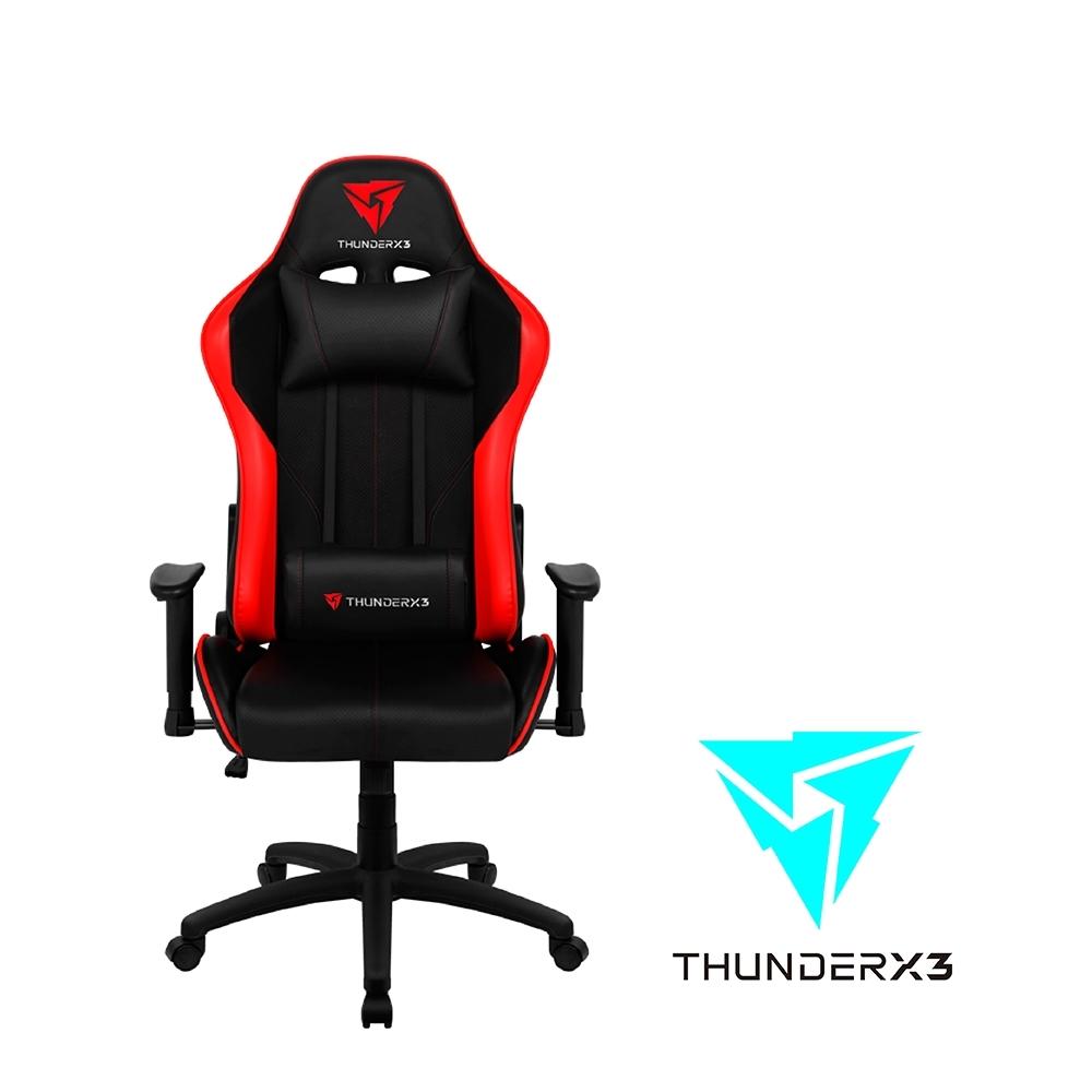 【ThunderX3】JC5 競速超跑電競賽車椅(黑紅色)