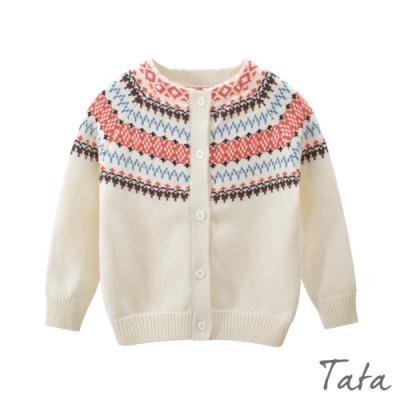 童裝 圖騰刺繡針織上衣 共二色 TATA KIDS