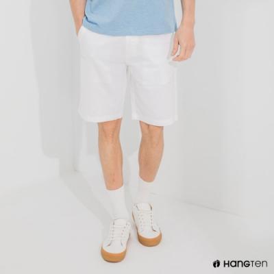 Hang Ten-男裝-REGULAR FIT經典彈性短褲-白色