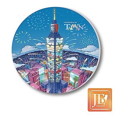 JB-Design陶瓷吸水杯墊796-台北煙火