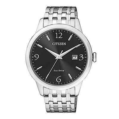 CITIZEN 簡單時尚風光動能腕錶(BM7300-50E)