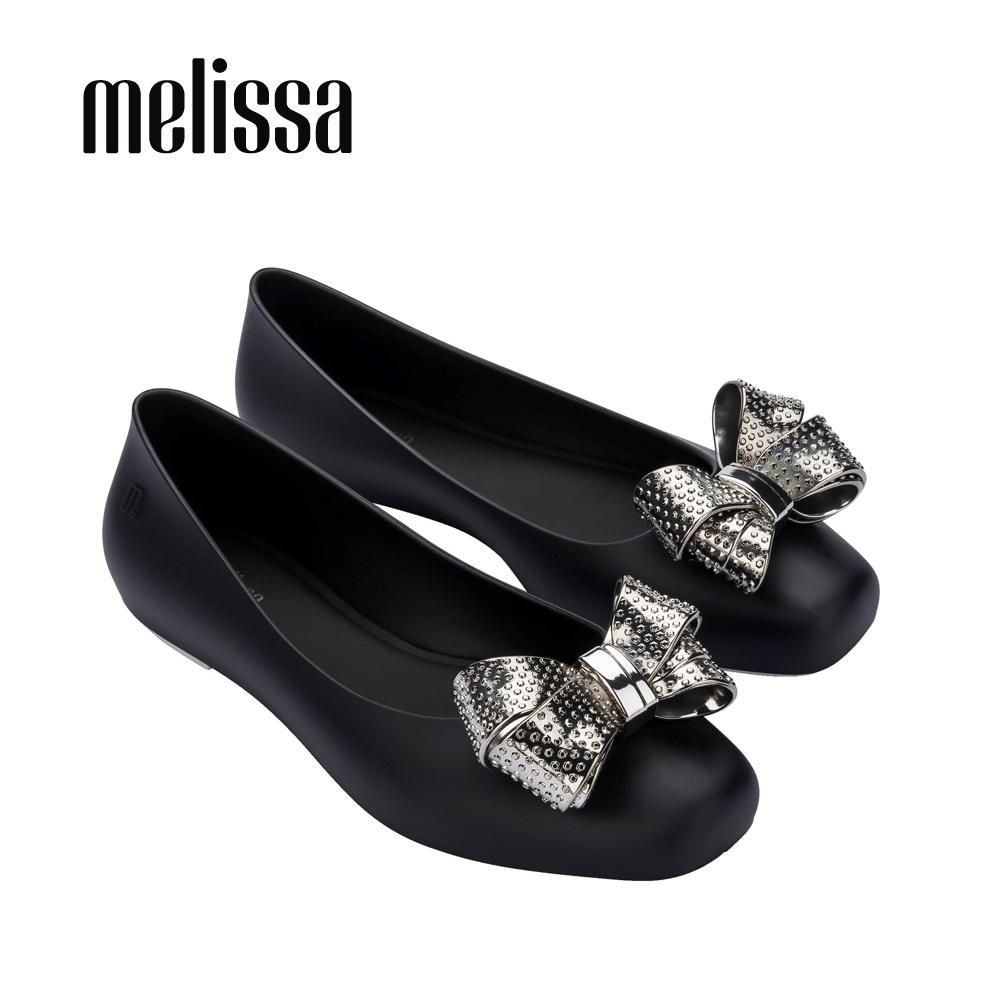 MELISSA AURA II  閃耀立體蝴結裝飾娃娃鞋-黑