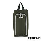 AOKANA奧卡納 MIT台灣製 旅行鞋袋 便攜收納包 收納袋(軍綠)02-027