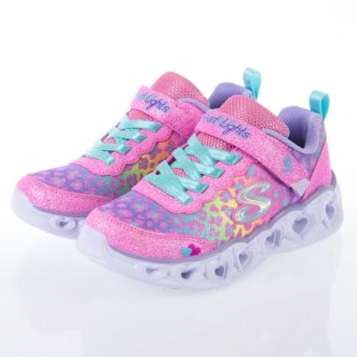 SKECHERS 女童系列 HEART LIGHTS 燈鞋 - 302145LPKMT