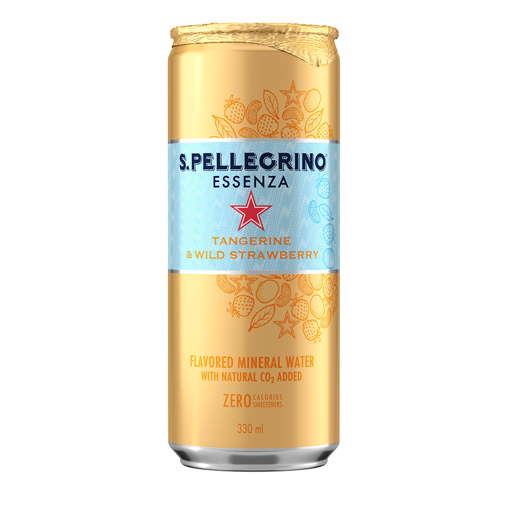 S.Pellegrino聖沛黎洛 零卡香氛氣泡飲-香橙野莓(330ml)