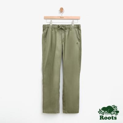 女裝Roots-斜紋布平織長褲-灰
