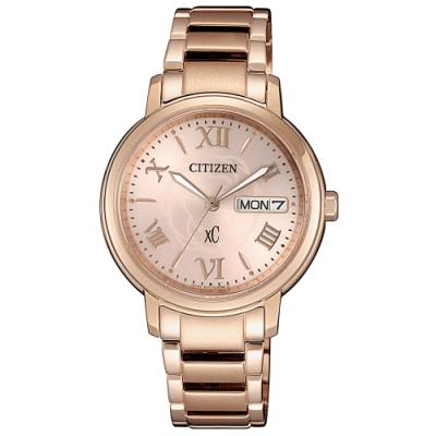 CITIZEN星辰 xC光動能限定款玫瑰甜心時尚女錶(EW2422-63W)-32.5mm