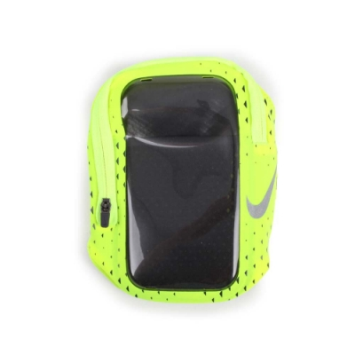 NIKE 手機萬用臂包5.5吋手機適用 螢光綠