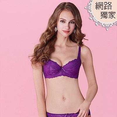 曼黛瑪璉 包覆提托春夏經典內衣 D-E罩杯(狂野紫)