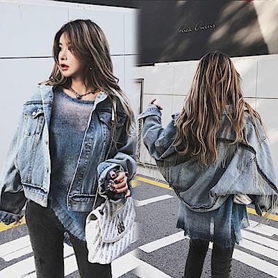【韓國K.W.】夏氛微醺幻境丹寧外套