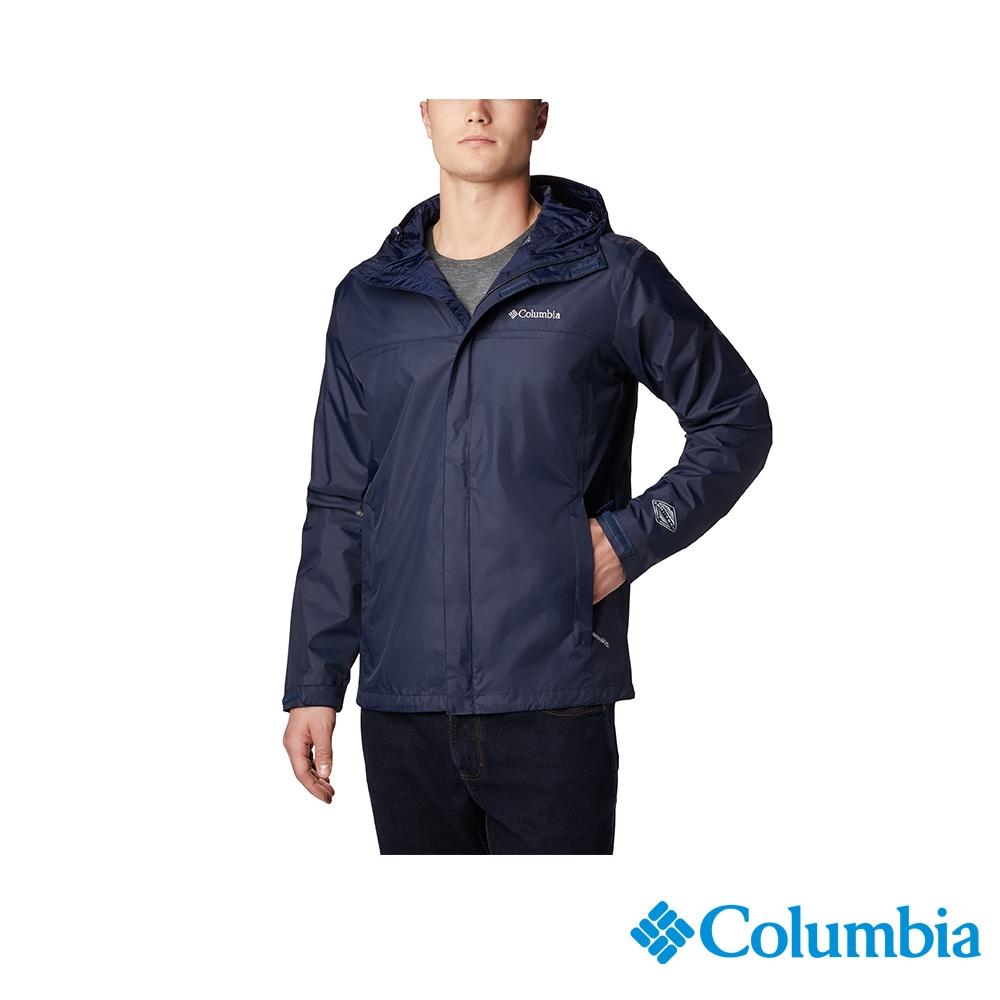 Columbia 哥倫比亞 男款- Omni-TECH 防水外套 - 2色 URR24360 (男款-藍色)