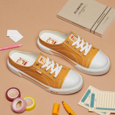 FILA COMO MULE 中性復古帆布鞋-黃 4-C623T-991