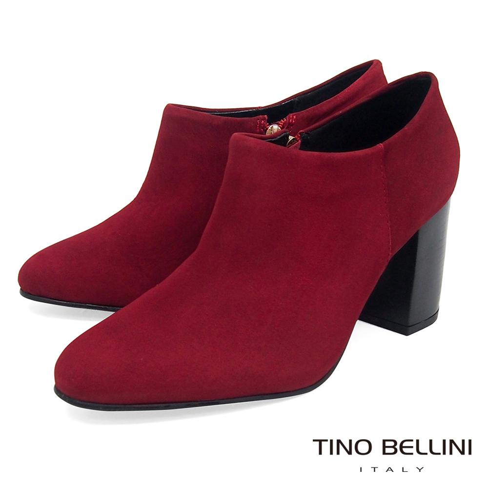 Tino Bellini 巴西進口純色極簡線條高跟踝靴 _ 紅 @ Y!購物