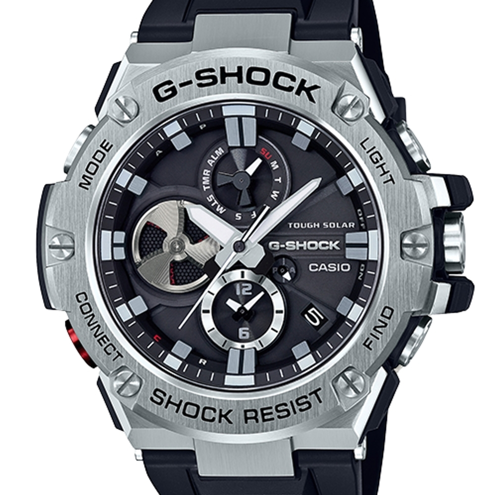 CASIO G-SHOCK 競速太陽能運動腕錶/GST-B100-1A
