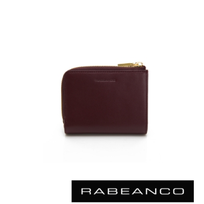 RABEANCO 歐系經典單拉鍊短夾 紫