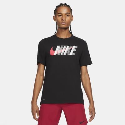 Nike T恤 Training T-Shirt 男款 Dri-FIT 吸濕排汗 健身 重訓 圓領 黑紅 CZ9727-010