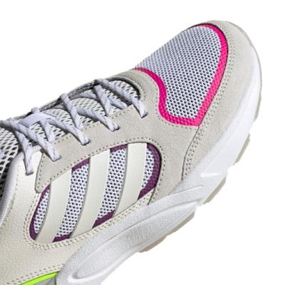 adidas 慢跑鞋 90s Valasion 復古 女鞋 愛迪達 三線 緩衝 懷舊 球鞋穿搭 米 灰 EG8422