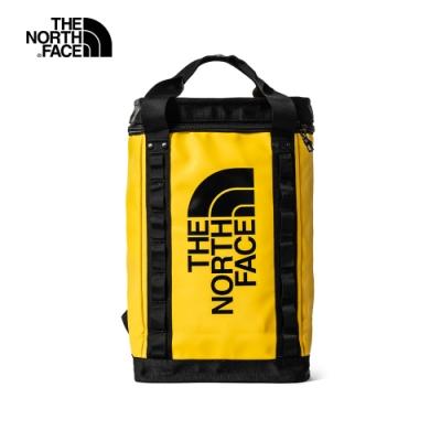 【經典ICON】The North Face北面男女款黃色箱型休閒後背包|3KYVZU3